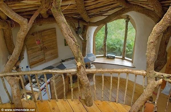 Man_Builds_Fairy_Tale_Home_for_His_Family_Total_Cost_3_000_Hobbit_Home_View_from_Loft