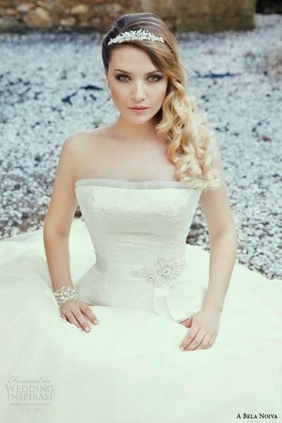 a-bela-noiva-2014-bridal-strapless-wedding-dress-close-up