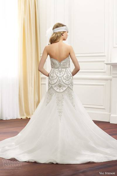 val-stefani-fall-2014-strapless-wedding-dress-embellished-bodice-d8075-back-view