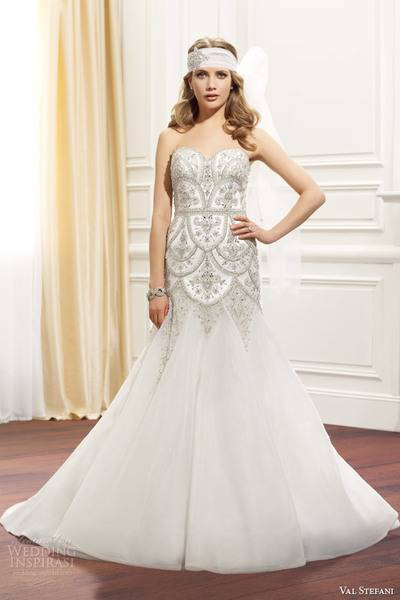 val-stefani-fall-2014-strapless-wedding-dress-embellished-bodice-d8075-front-view