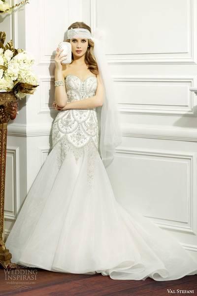 val-stefani-fall-2014-strapless-wedding-dress-embellished-bodice-d8075