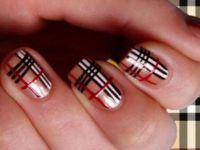 Карирани нокти