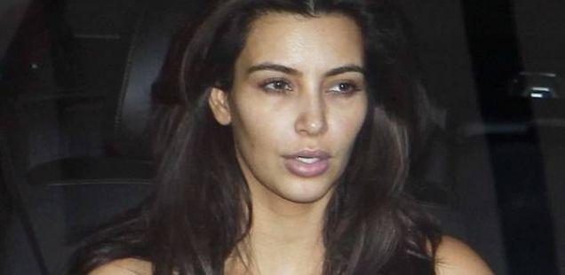 Конечно Ким се опушти и пред Кание застана без шминка
