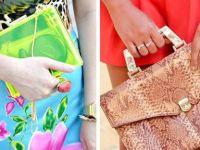 Прозирни и змиски женски чанти
