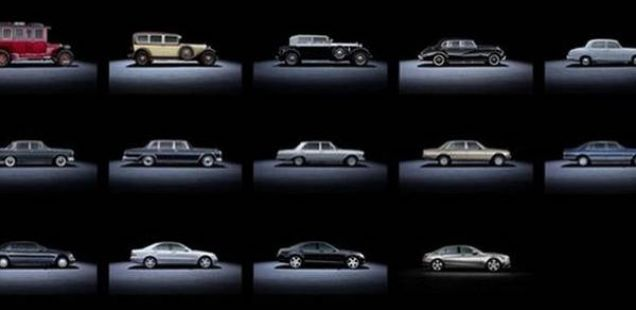 14 генерации Мерцедес S класа