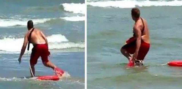 Ова е најлошиот спасувач на плажа:-)