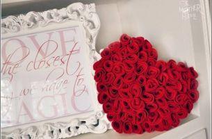 Време е да направите срце од рози!