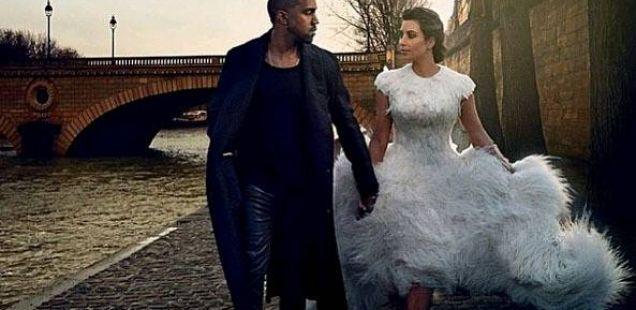 Романтично и интимно: Ким и Кание со ќерката Норт за магазинот Vogue