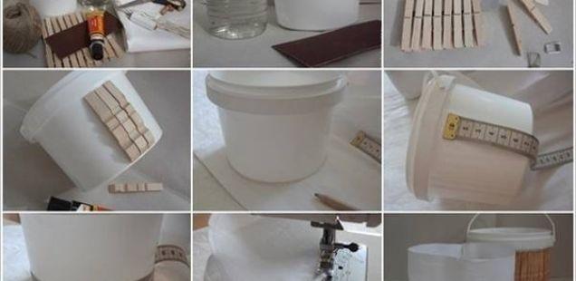 Направете ја пластичната канта во совршено место за складирање!