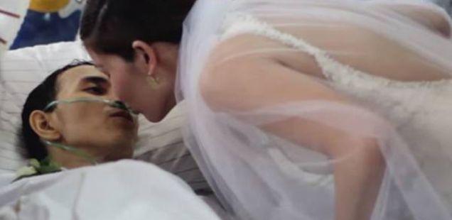 Свадбата на едно момче што умира, кое раскажа се за љубовта (Видео)