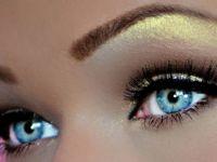 Шминка за сини очи