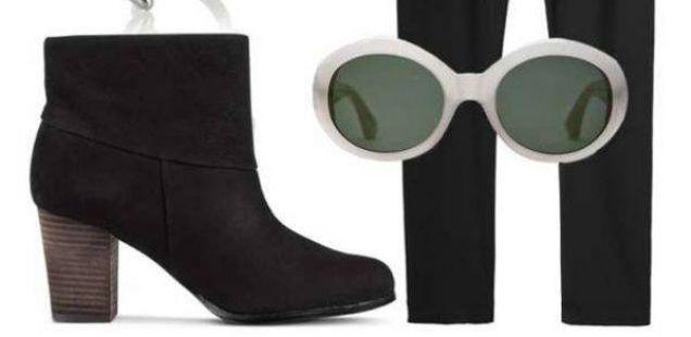 Еден пар црни чизми и шест комбинации
