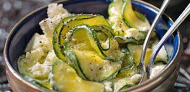 Јогурт салата од печени тиквички