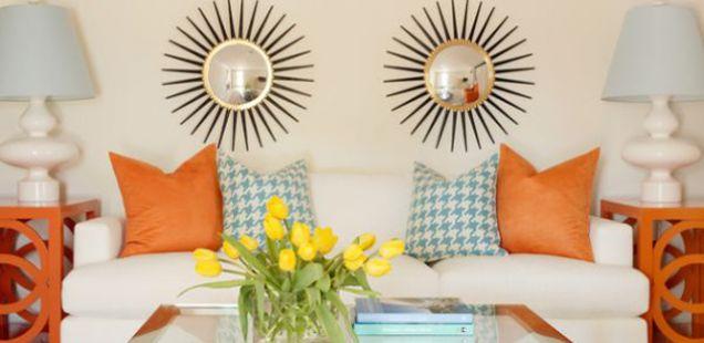 Портокалови акценти за стилски и импресивен ентериер