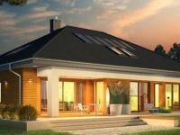 Проект на модерна куќа со поткровје и гаража – Marcel