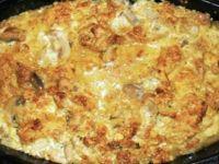 Мусака од бело месо и печурки