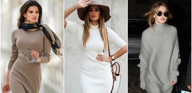 Атрактивни плетени фустани