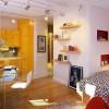 Живописен амбиент умно постигнат во мал стан