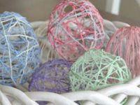Велигденска јајца од конец