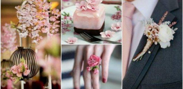 Тема за пролетните свадби – Декорации со црешови цветови