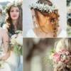 Романтични невестински фризури со плетенки и цветни венчиња