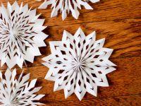 Направете 3D снегулки од хартија