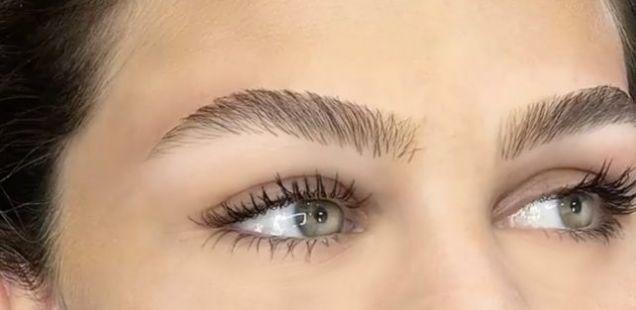 Најприроднo исцртување на веѓи досега: Hair stroke техника