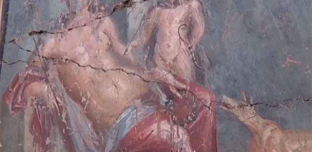 Во Помпеја беше пронајдена вредна фреска од Нарцис