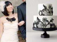 Свадбени торти во стилот на венчаницата на невестата
