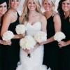 Црни фустани за деверушите на венчавката