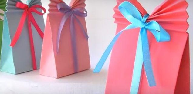 Направете ќесички за подарок со обична хартија