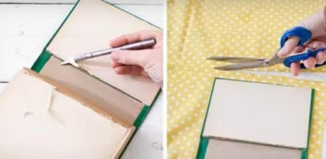 Како да направите ташна од стара книга