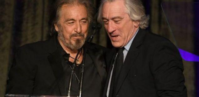 Роберт Де Ниро и Ал Пачино рамо до рамо: Актерите легенди ги воодушевија сите присутни кога се појавија заедно на сцената за време на церемонијата на доделувањето на наградите!